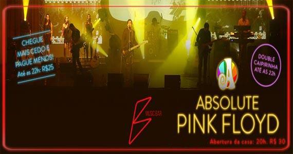 B Music apresenta show da Banda Absolute Pink Floyd no sábado Eventos BaresSP 570x300 imagem