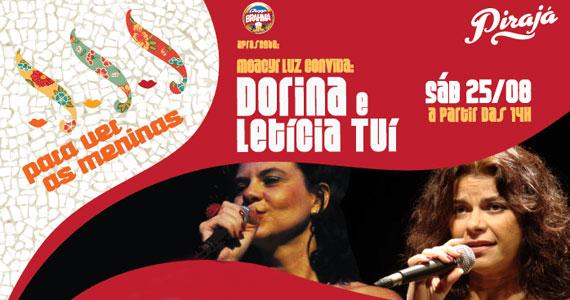Projeto Para ver as meninas traz cantoras Letícia, Tuí e Dorina para roda de samba especial no Pirajá Eventos BaresSP 570x300 imagem