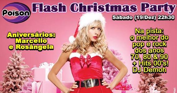 Flash Christmas Party para animar o sábado do Poison Bar e Balada Eventos BaresSP 570x300 imagem
