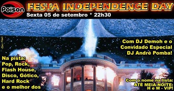 Festa Independence Day com o melhor do pop rock no Poison Bar e Balada Eventos BaresSP 570x300 imagem