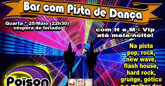 Bar com pista de dança e o melhor do flash back no Poison bar e Balada Eventos BaresSP 570x300 imagem