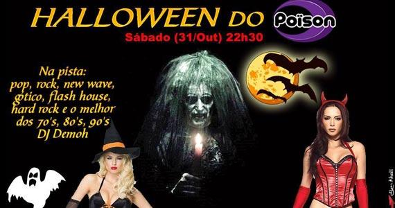 Halloween do Poison Bar e Balada com DJ Demoh nas pick-ups Eventos BaresSP 570x300 imagem
