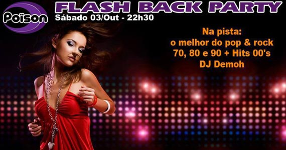 Flash Back Party com muito pop rock com DJ Demoh no Poison Bar e Balada Eventos BaresSP 570x300 imagem