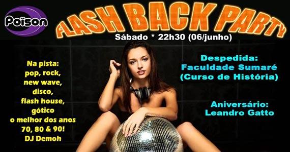 Flash Back Party com DJ Demoh animam o sábado no Poison Bar e Balada Eventos BaresSP 570x300 imagem