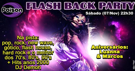 Flash Back Party com DJ Demoh nas pick-ups do Poison Bar e Balada no sábado Eventos BaresSP 570x300 imagem