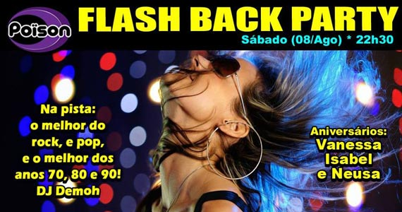 Flash Back Party com DJ Demoh animando o sábado do Poison Bar e Balada Eventos BaresSP 570x300 imagem
