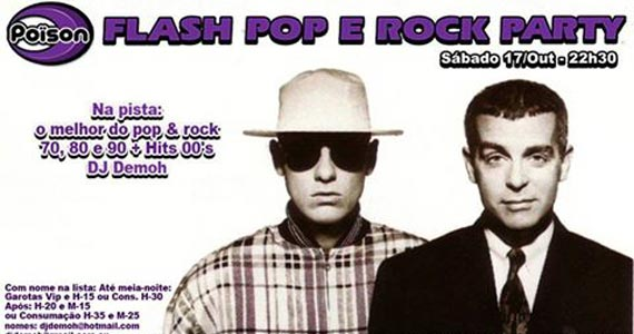 Flash Pop e Rock Party com DJ Demoh agitando as pick-ups no Poison Bar e Balada Eventos BaresSP 570x300 imagem