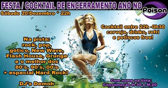 Festa Cocktail de Encerramento neste sábado no Poison Bar e Balada Eventos BaresSP 570x300 imagem
