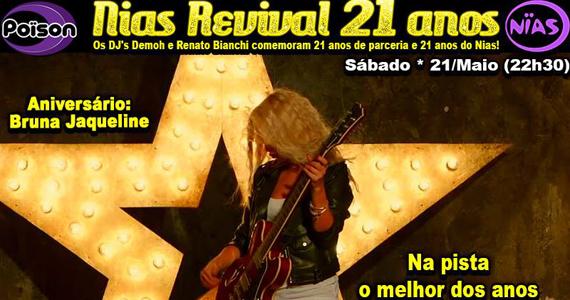 Festa Nias Revival 21 anos neste sábado no Poison Bar e Balada Eventos BaresSP 570x300 imagem