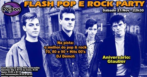 Flash Pop e rock com DJ Demoh nas pick-ups este sábado no Poison Bar e Balada Eventos BaresSP 570x300 imagem
