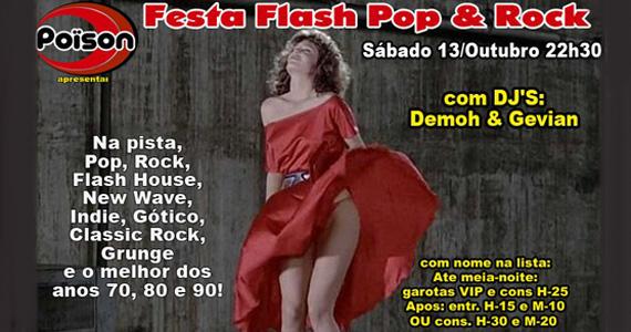 Poison Bar e Balada apresenta a Festa Flash Pop & Rock Eventos BaresSP 570x300 imagem