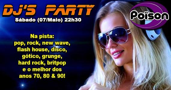 DJs Party comandam a noite com clássicos do flash back no Poison Bar e Balada Eventos BaresSP 570x300 imagem