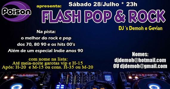 Noite Flash Pop & Rock no Poison Bar e Balada Eventos BaresSP 570x300 imagem