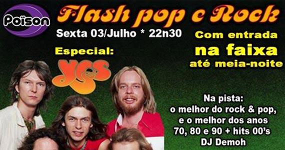 Flash Pop e Rock com DJ Demoh no Poison Bar e Balada para animar a noite Eventos BaresSP 570x300 imagem