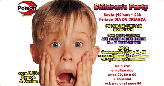 Poison Bar e Balada apresenta a Children's Party com programação especial Eventos BaresSP 570x300 imagem