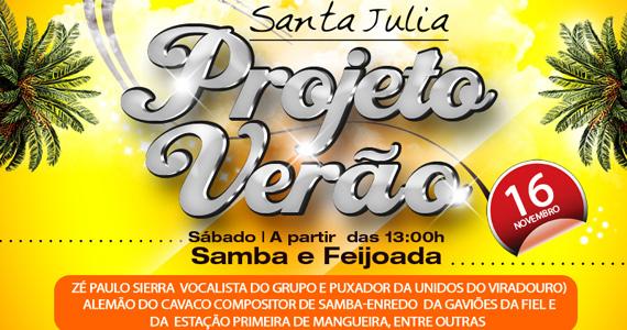 Acontece no sábado o Projeto Verão no Santa Julia Eventos BaresSP 570x300 imagem