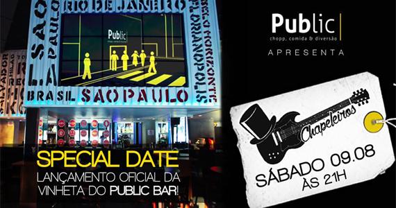 Banda Os Chapeleiros levam seu som para animar o sábado no Public Bar e After Bar Eventos BaresSP 570x300 imagem