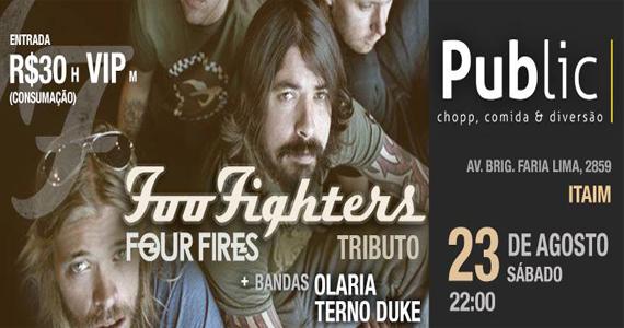 Tributo ao Foo Fighters com a banda Four Fires neste sábado no Public Bar Eventos BaresSP 570x300 imagem