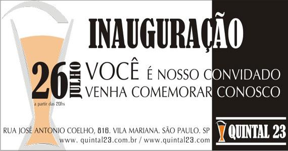 Inauguração do Quintal 23 acontece na Vila Mariana nesta quinta-feira Eventos BaresSP 570x300 imagem