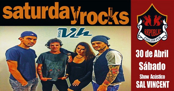 Banda Vih e Sal Vincent agitam o sábado com pop rock no Republic Pub Eventos BaresSP 570x300 imagem