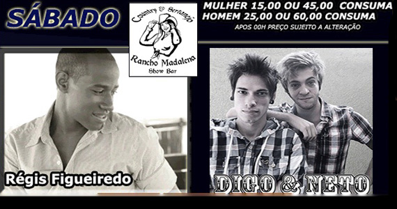Sabadão Sertanejo com Regis Figueiredo e Digo e Neto no Rancho Madalena Eventos BaresSP 570x300 imagem