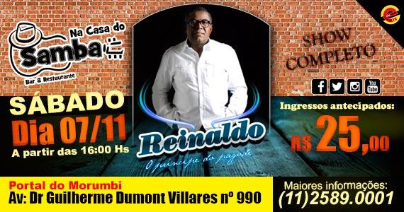 Na Casa do Samba recebe o cantor Reinaldo animando o sábado Eventos BaresSP 570x300 imagem