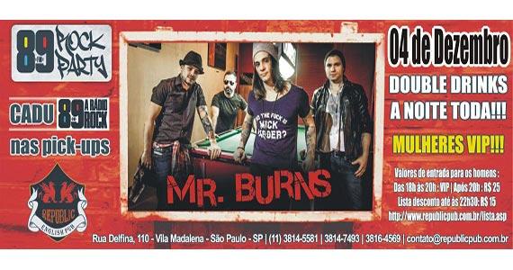 Banda Mr. Burns e DJ Cadu da 89 FM comandam a noite de quinta no Republic Pub Eventos BaresSP 570x300 imagem