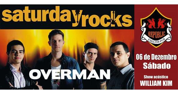 William Kim e banda Overman comandam o sábado no Republic Pub Eventos BaresSP 570x300 imagem