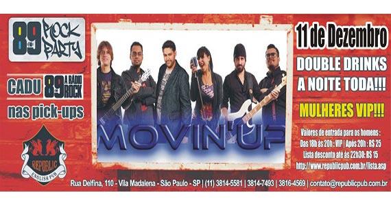 Banda Movin UP e DJ Cadu da 89 FM comandam a noite de quinta no Republic Pub Eventos BaresSP 570x300 imagem