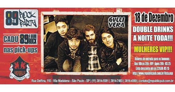 Banda Gullivera e DJ Cadu da 89 FM animam a noite de quinta no Republic Pub Eventos BaresSP 570x300 imagem