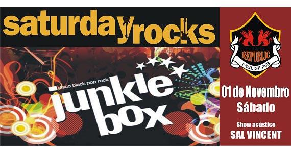 Sal Vincent e banda Junkie Box neste sábado animando o Republic Pub Eventos BaresSP 570x300 imagem