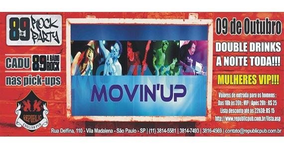 Banda Movin UP comanda a animação nesta quinta-feira no Republic Pub Eventos BaresSP 570x300 imagem