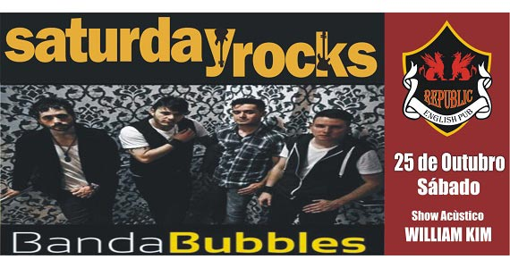 William Kim e banda Bubbles comandam a noite no Republic Pub neste sábado Eventos BaresSP 570x300 imagem