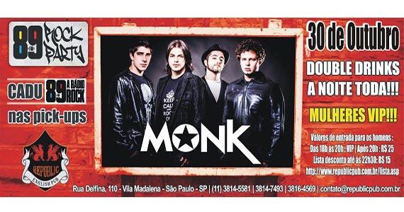 Banda Monk agita o projeto 89 Rock Party com DJ Cadu no Republic Pub Eventos BaresSP 570x300 imagem
