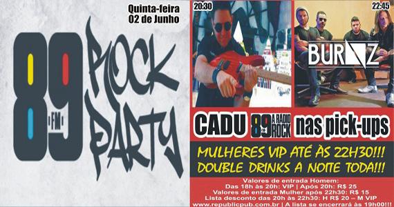 Banda Burnz e DJ Cadu comandam a noite com pop rock no palco do Republic Pub Eventos BaresSP 570x300 imagem