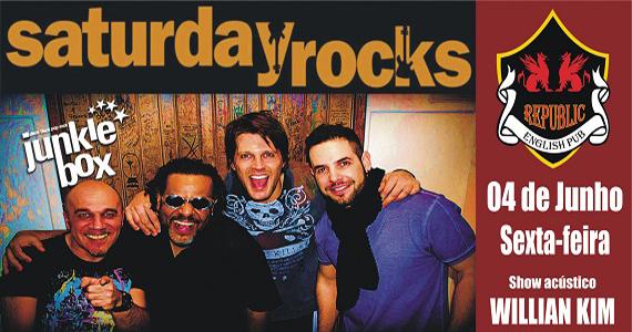 William Kim e Junkie Box comandam a noite no Republic Pub com pop rock Eventos BaresSP 570x300 imagem