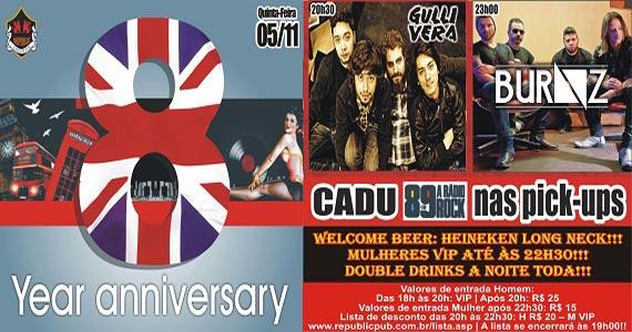 Republic Pub comemora 8 anos com bandas Gullivera e Burnz para agitar a festa Eventos BaresSP 570x300 imagem