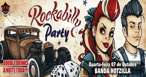 Banda Hotzilla anima a noite da Rockabilly Party no Republic Pub Eventos BaresSP 570x300 imagem