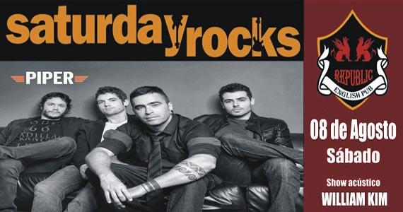 William Kim e banda Piper comandam a noite com muito rock no Republic Pub Eventos BaresSP 570x300 imagem
