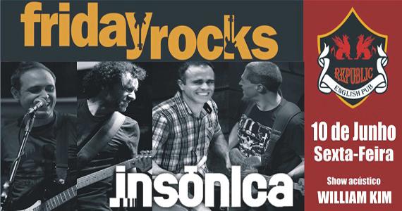 Banda Insônica e Sal Vincent comandam a noite com pop rock no Republic Pub Eventos BaresSP 570x300 imagem