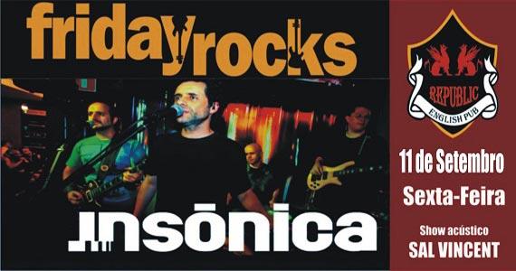 Banda Insônica e William Kim comandam a noite com rock no Republic Pub Eventos BaresSP 570x300 imagem