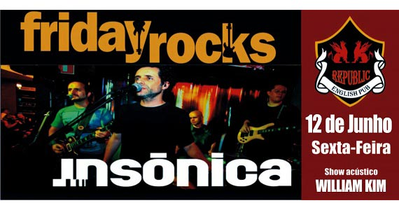 Sal Vincent e banda Insônica na Noite dos Solteiros no Republic Pub Eventos BaresSP 570x300 imagem