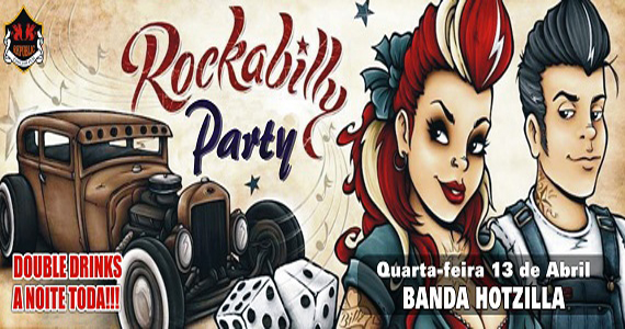Banda Hotzilla comanda a Rockabilly Party com rock no Republic Pub Eventos BaresSP 570x300 imagem