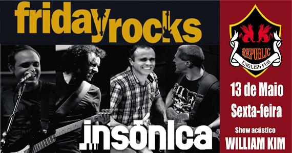 Banda Insônica e William Kim apresentam o melhor do pop rock no Republic Pub Eventos BaresSP 570x300 imagem