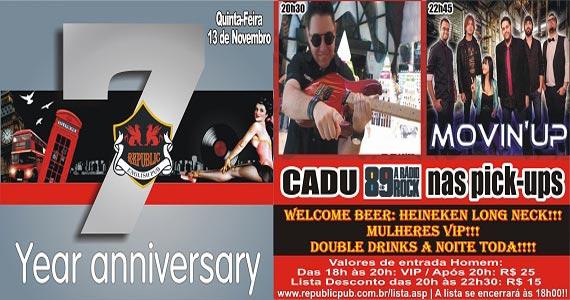 Aniversário de 7 anos do Republic Pub com banda Movin'UP e DJ Cadu da 89 FM Eventos BaresSP 570x300 imagem