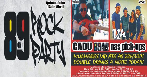 Banda Vih e DJ Cadu comandam a quinta-feira com clássicos do rock no Republic Pub Eventos BaresSP 570x300 imagem