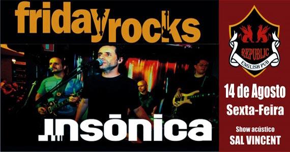 Banda Insônica e Sal Vincent comandam a noite com muito pop rock no Republic Pub Eventos BaresSP 570x300 imagem