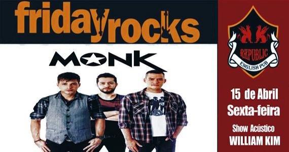 William Kim e banda Monk com muito pop rock no Republic Pub Eventos BaresSP 570x300 imagem