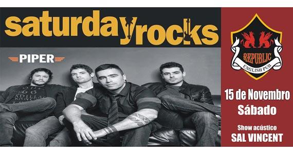 Sal Vincent e banda Piper neste sábado com muito pop rock no Republic Pub Eventos BaresSP 570x300 imagem