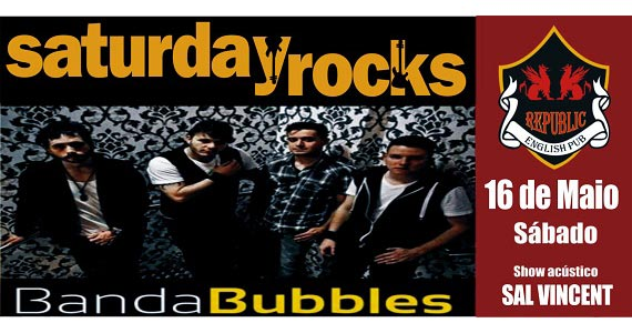 Sal Vincent e banda Bubbles animam a noite de sábado com muito pop rock no Republic Pub Eventos BaresSP 570x300 imagem